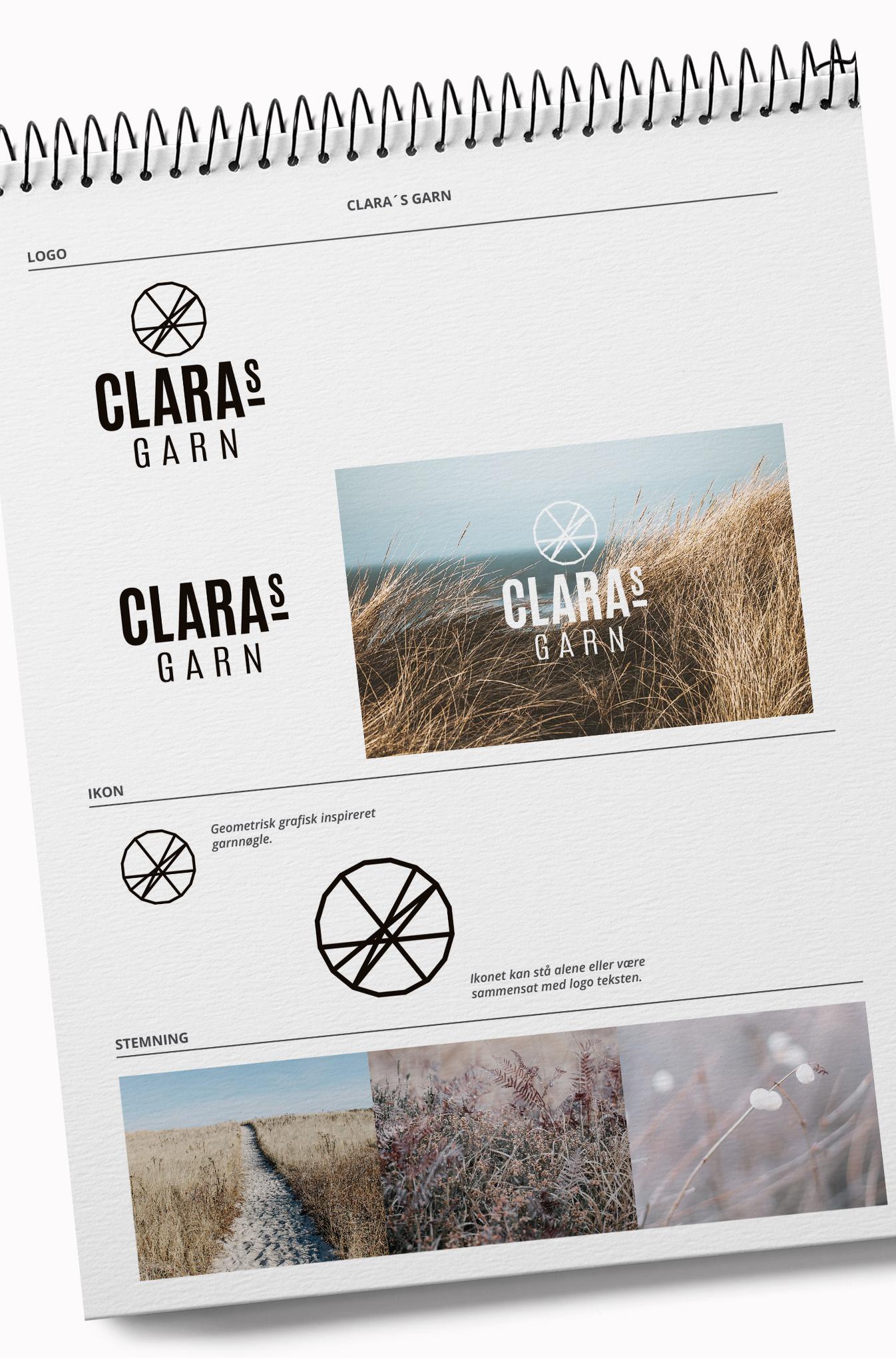 Claras garn branding