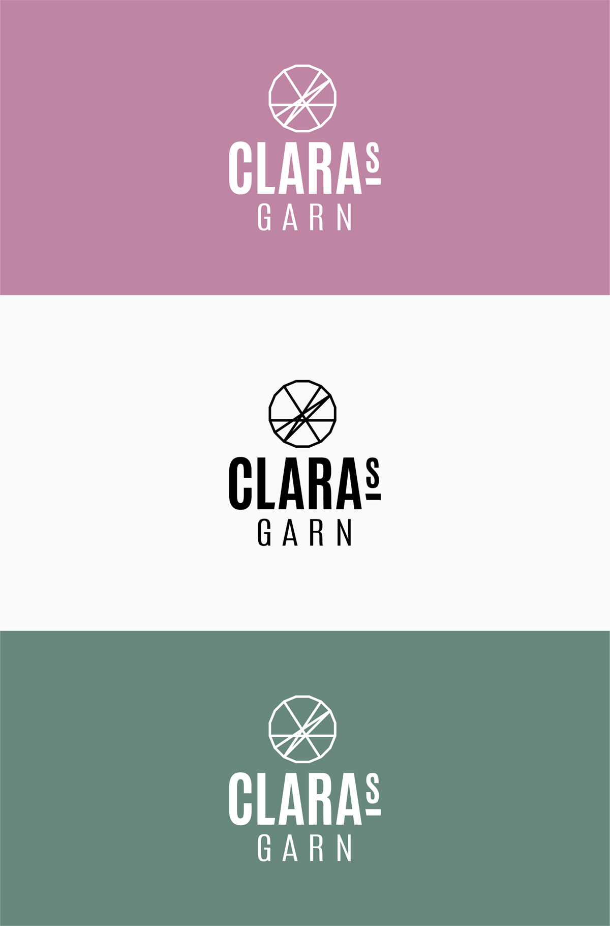 Claras garn logo