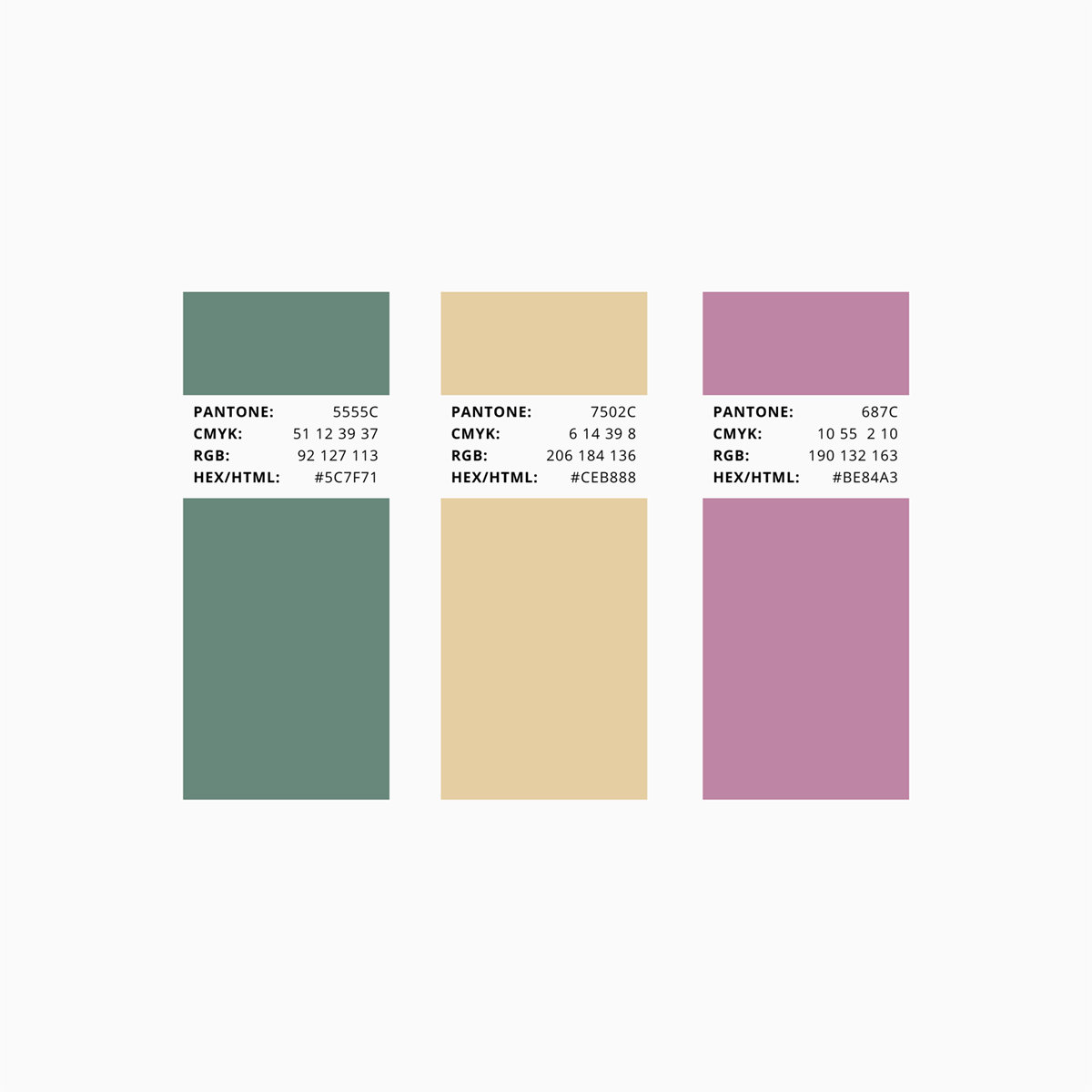 Claras garn farvepalette