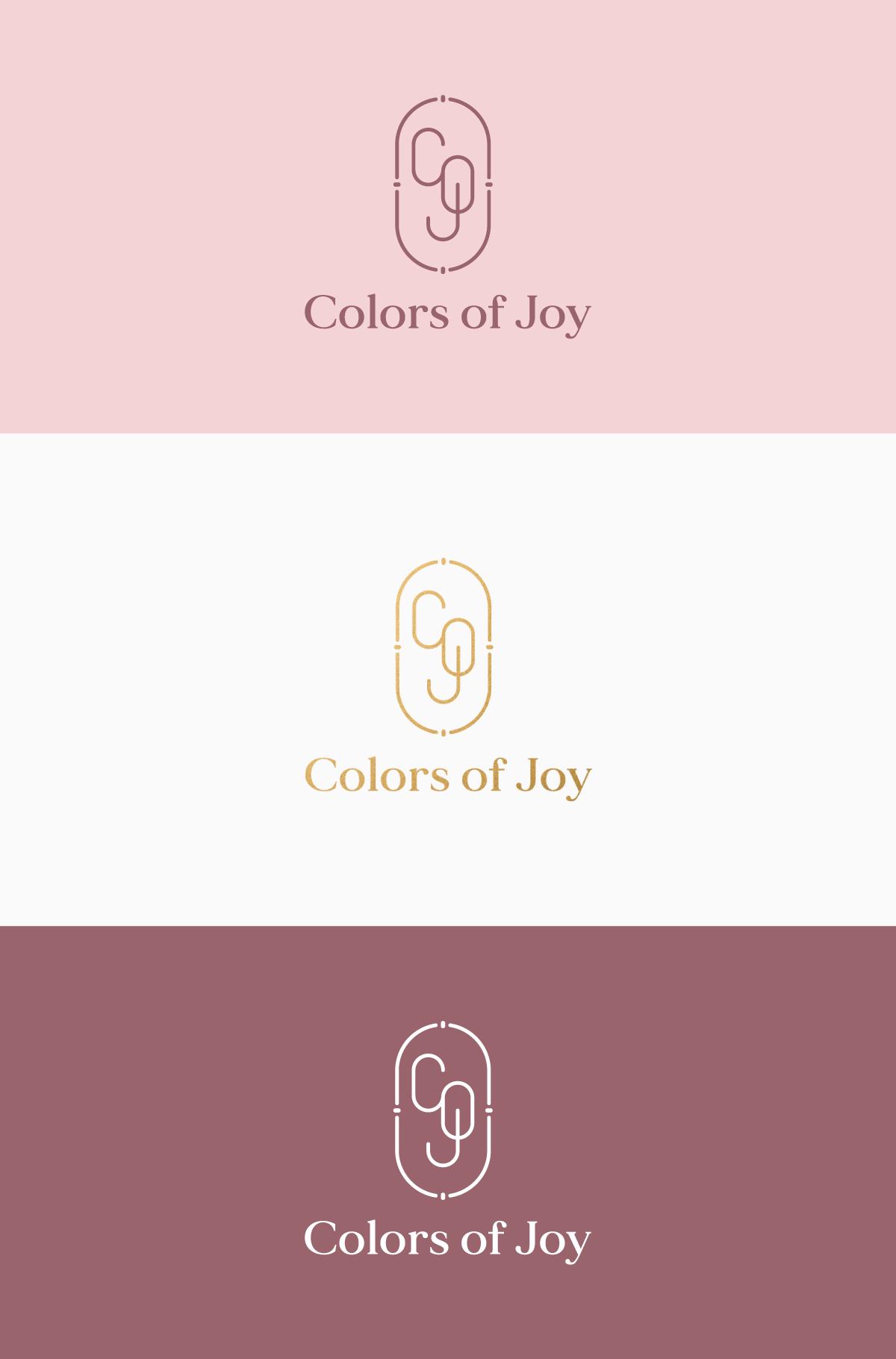olors of Joy logo varianter