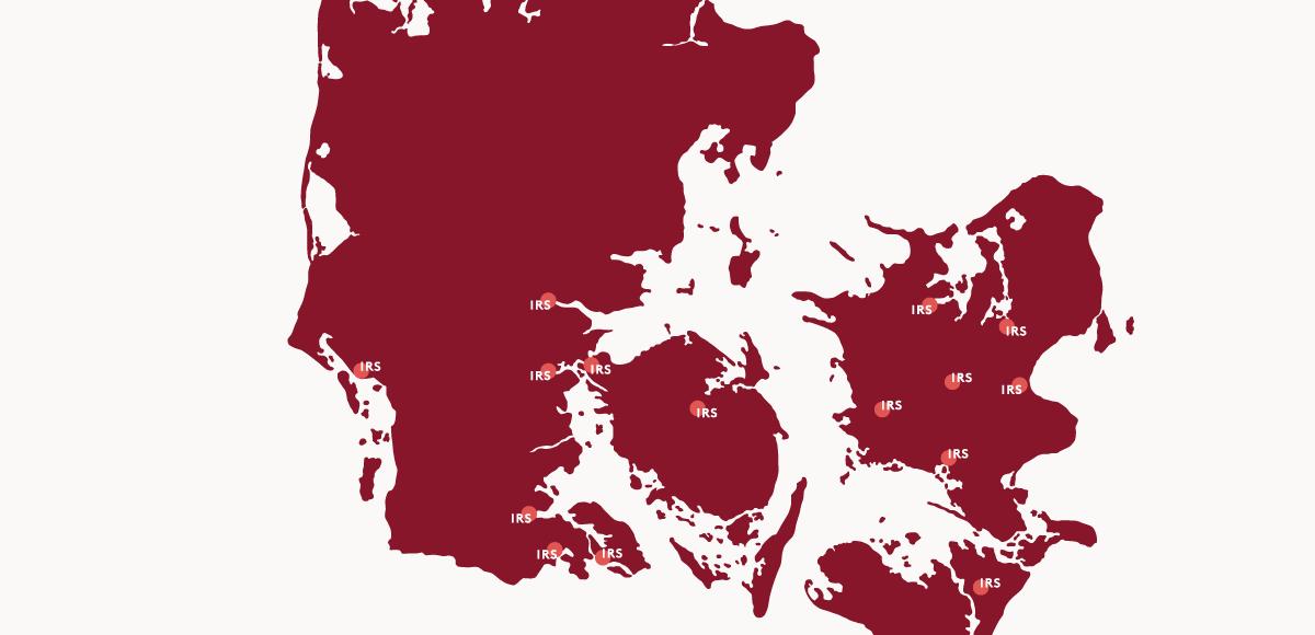 IRS landkort