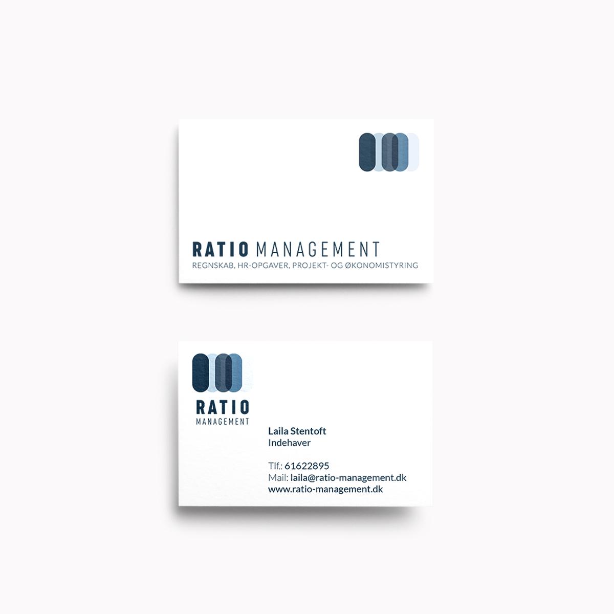 Ratio Management visitkort