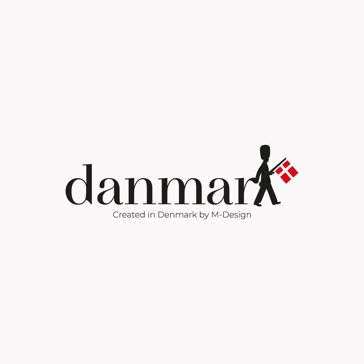 Logo af brandet Danmark by M-design