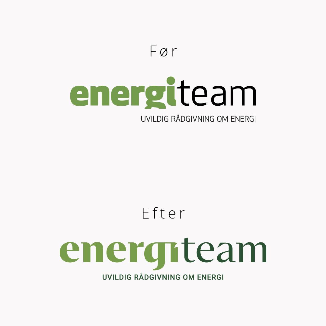 Energiteam logo før og efter