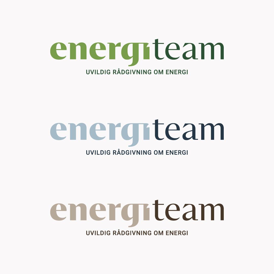 Forskellige logo farver til Energiteam
